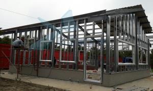 頂樓增建工程 中亞鐵工廠 鐵皮屋 鐵皮屋加蓋 Tekla Structures3D